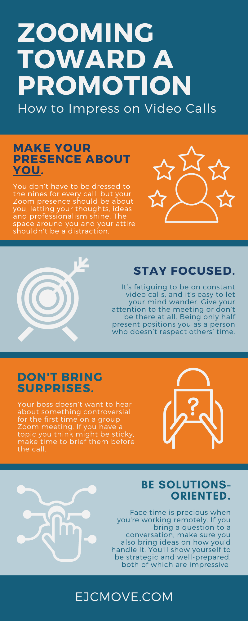 how to impress your boss on zoom infographic